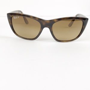 Ray Ban polarized sun glasses tortoise shell frame